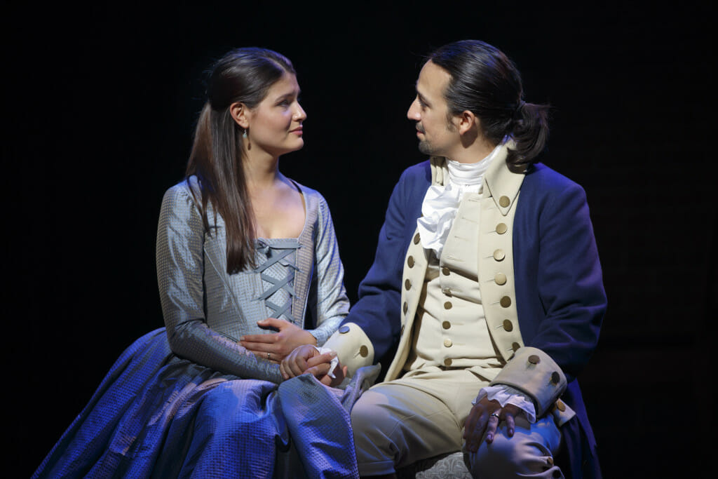 Libertyville native Phillipa Soo and Lin Manuel Miranda in the Broadway production of 'Hamilton'
