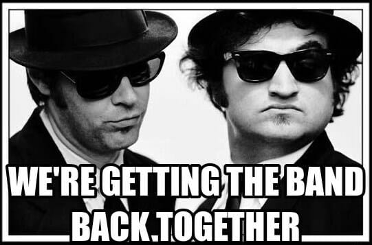 Image result for blues brothers getting the band back together