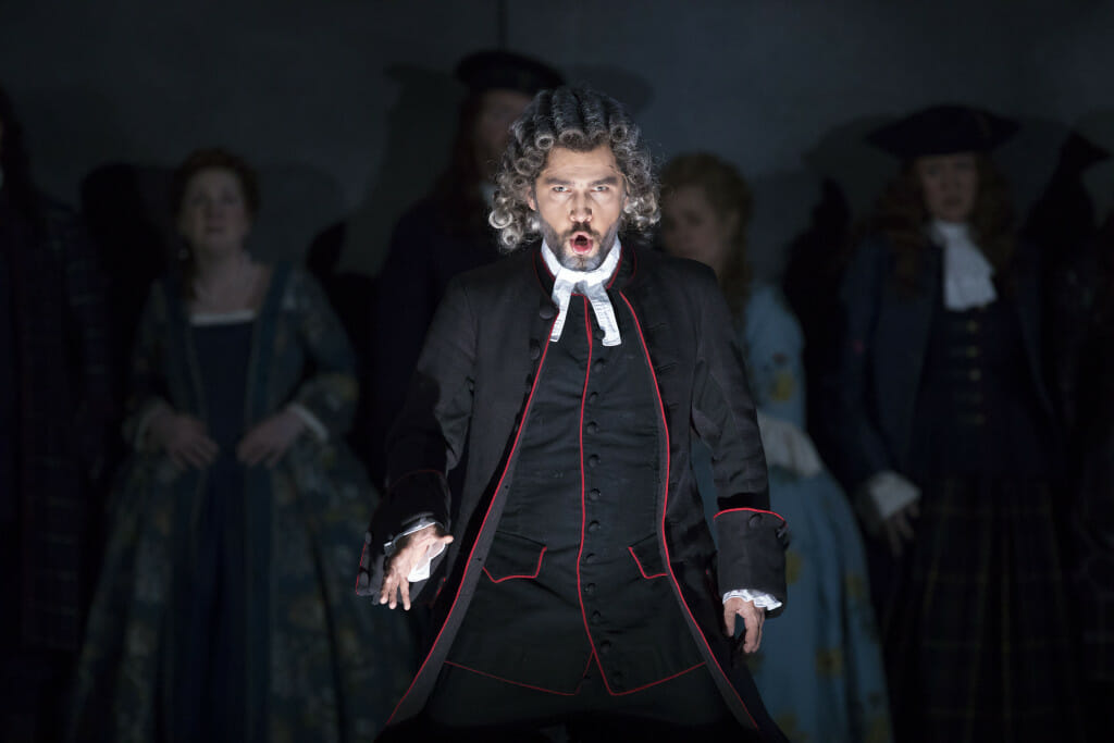 10/11/163:10:55 PM Lyric Opera of Chicago Dress Rehearsal for Lucia Di Lammermoor © Todd Rosenberg Photography Lindsay Metzger -Alisa Matthew DiBattista- Normanno Enrique Mazzola-Conductor Paul Brown- Set and costume design Graham Vick-Director