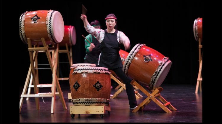 Tatsu Aoki Taiko Legacy 15 and Reduction 6 bring the thunder of the Japanese Taiko Drum to the MCA this December
